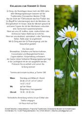 Einladung zum Sommer Qi Gong